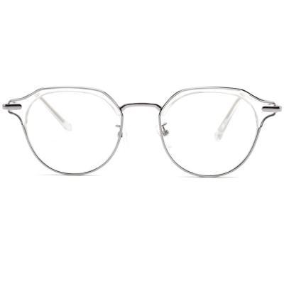 shine 실버 각진 투명 뿔테 안경 뿔테 패션안경