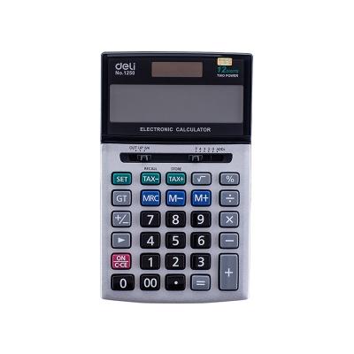 DELI 델리 정품 메탈 휴대용 사무 일반 계산기 E1250