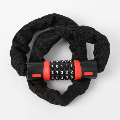 번호키 체인 자전거자물쇠(90cm) (레드)