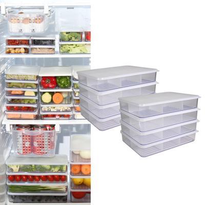 냉장고소분용기 납작특대형4개세트 1+1