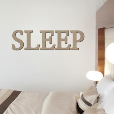 우드스티커- SLEEP (컬러완제) 레터링 글자 W470 입체