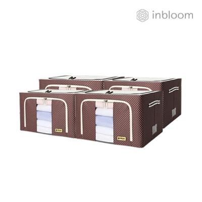 인블룸 4개세트 도트 리빙박스 66L 브라운