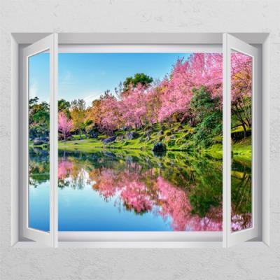 ij975-핑크빛벚꽃풍경_창문그림액자