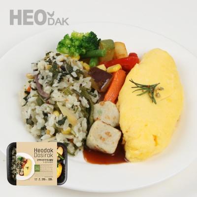 [허닭] 곤약다섯가지나물밥&참치오믈렛 도시락 1+1