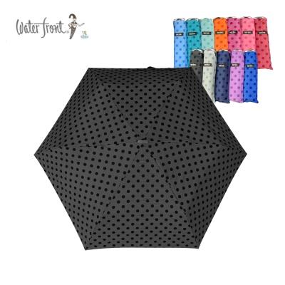 워터프론트 초경량 수동 접이식 땡땡이 도트 3단 우산