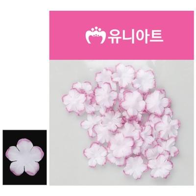 유니아트 싸리꽃 백색 보라 공예 공작 조화꽃 재료