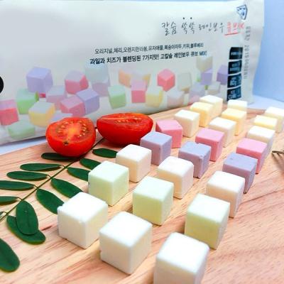 레인보우 큐브치즈 7가지 과일맛 칼슘 80g/24개입