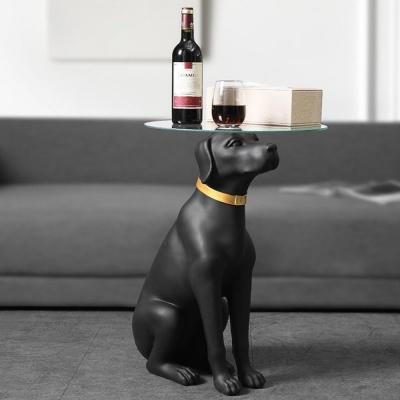 리트리버 사이드 테이블 강아지 협탁 거실 인테리어