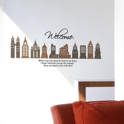 [우드스티커] 아크텍 (컬러완제품) - 입체우드 월데코 포인트 집꾸미기 벽장식