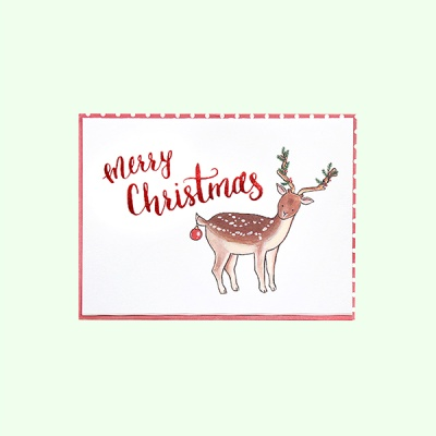 [일러스트 크리스마스카드] 01크리스마스 디어