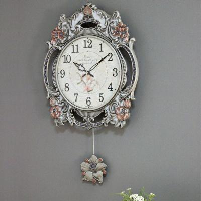 (kspz238)저소음 신 장미 벽시계 주석