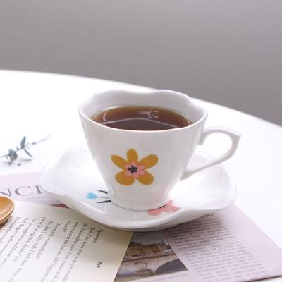 큐티 연잎 커피잔 세트