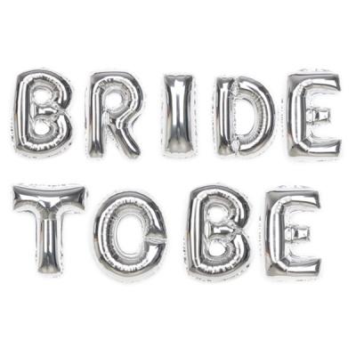 알파벳은박풍선세트 (BRIDE TO BE) 실버