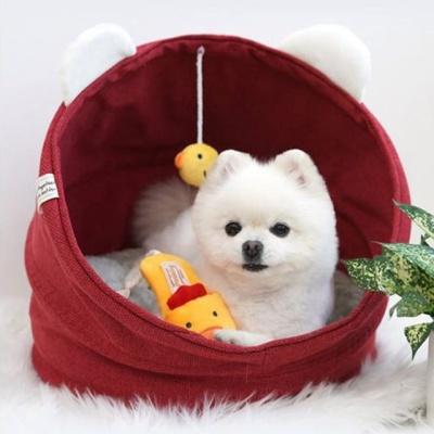 패리스독 병아리 크래들 - 레드 강아지 하우스