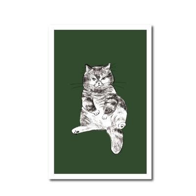 북성로 고양이 엽서 카키