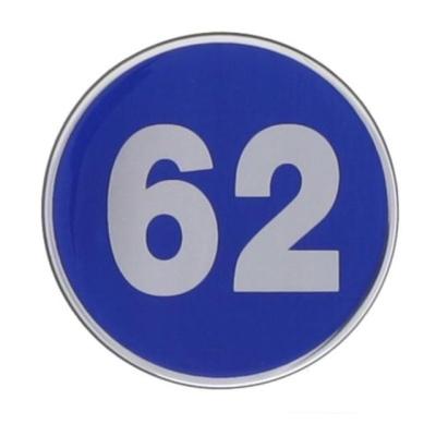 번호판62 에폭시 파랑 1491 지름62 1개입