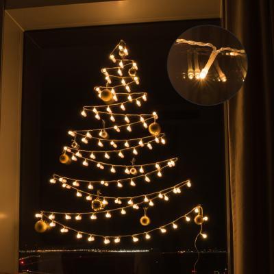 어반 LED 기본전구 크리스마스 벽트리 장식 세트