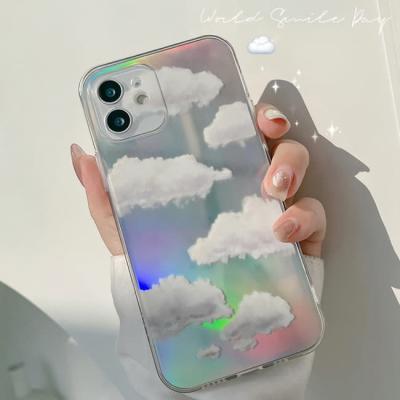 아이폰 케이스 12 11 프로 맥스 미니 X 8 실버 구름