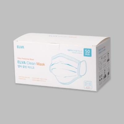 [국내산] 엘바 3중 필터 마스크 50매