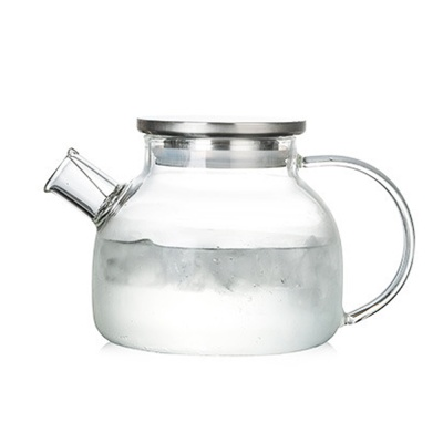 [로하티]바이 스텐덮개 유리 주전자(1L)
