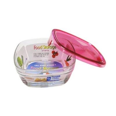 듀라렉스 반찬통 내열유리 11cm 핑크 밀폐용기 그릇