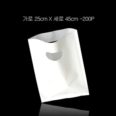 질긴 포장용 무지 비닐백 쇼핑백 25cmX45cm 200P