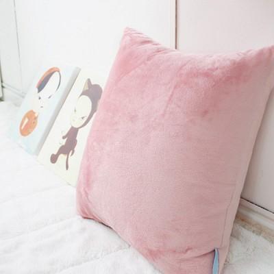 극세사벨벳 럭셔리 쿠션-핑크