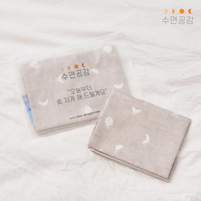 수면공감 우유베개 키즈 커버(59x30)/달패턴