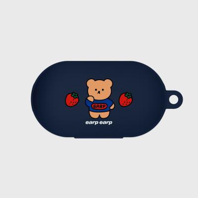 strawberry bear-navy(buds jelly case)