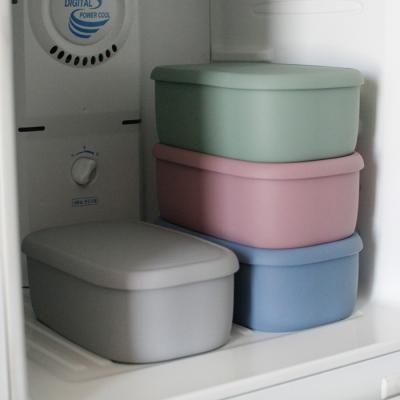 파스텔 실리콘 밀폐용기 특대 (1400ml) - 4color