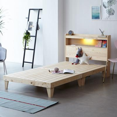 소나무 원목 침대 SS (LED마루형) OT066