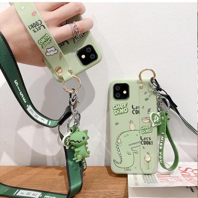 아이폰11/pro맥스/공룡 스트랩/목걸이줄키링 케이스