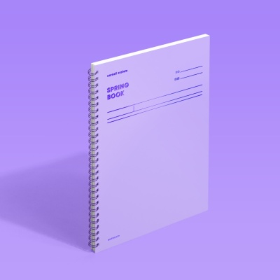 [모트모트] 스프링북 - 바이올렛 (코넬시스템) 1EA
