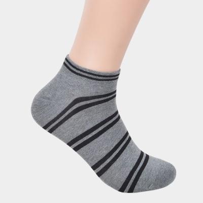 줄무늬패턴 남성용 발목양말 5켤레 색상혼합