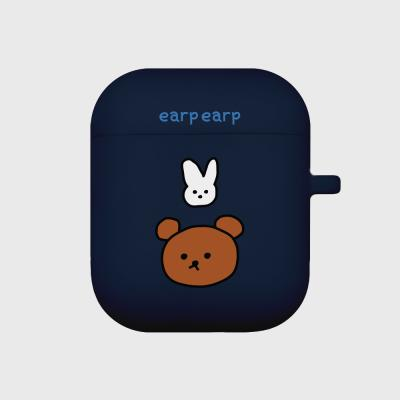 Bear and rabbit-navy(Air pods)