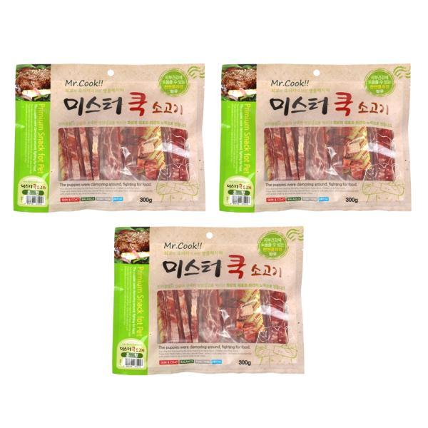 미스터쿡300g 소고기혼합 x3개 강아지간식