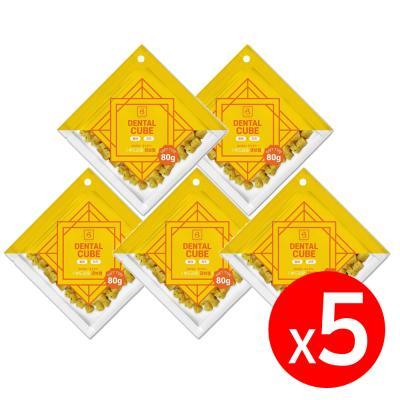덴탈큐브 황태&치즈80g x 5개 강아지간식