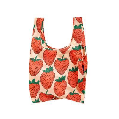 [바쿠백] 휴대용 장바구니 시장가방 Strawberry