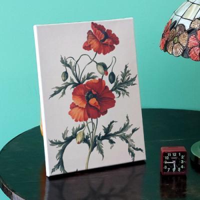 ga698-캔버스액자33.4x24.2_재물이들어오는빨간꽃