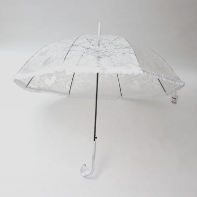 파라체이스 레이스 투명 비닐 자동 장우산