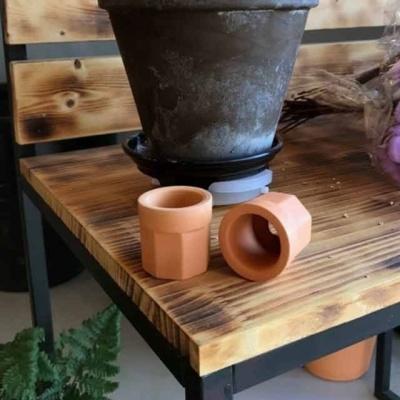 황토빛 수초화분 5x4.5cm 토분(갈색화분)