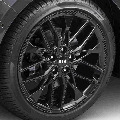 기아 K5 DL3 19인치 카본블랙 휠스티커/1세트