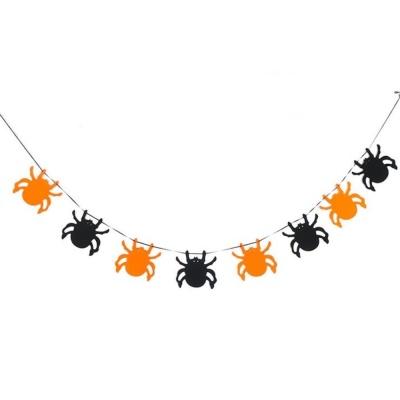 할로윈파티장식 펠트재질 투톤 거미가랜드 방꾸미기