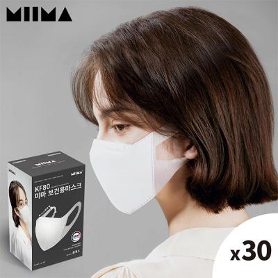 [미마] KF94 보건용 마스크 흰색/M/1BOX/30개입