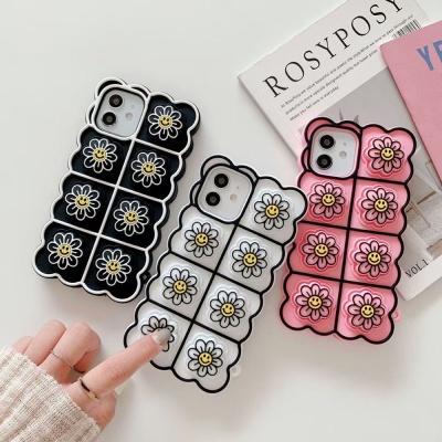 아이폰12 11 pro max 스마일 꽃 푸쉬팝 팝잇 폰케이스