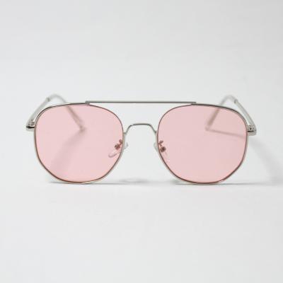 남녀공용 육각 보잉 메탈 선글라스 (핑크)
