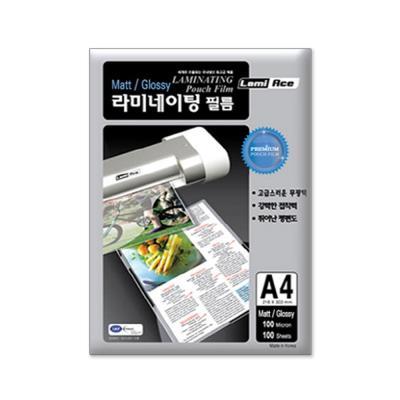 라미에이스 코팅필름 100MIC A4(100매)