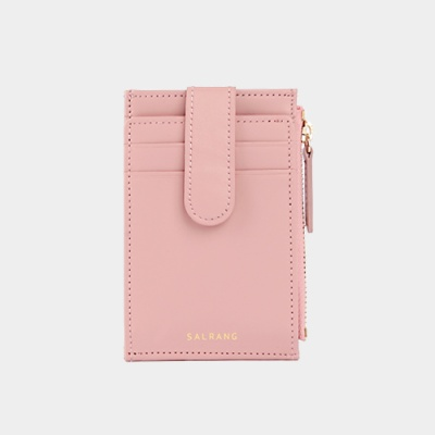 Dijon 201S Flap mini Card Wallet light pink 플랩 미니 라이트핑크