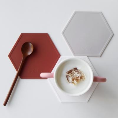 [3+1] AL 헥사곤 실리콘 컵받침 / 코스터