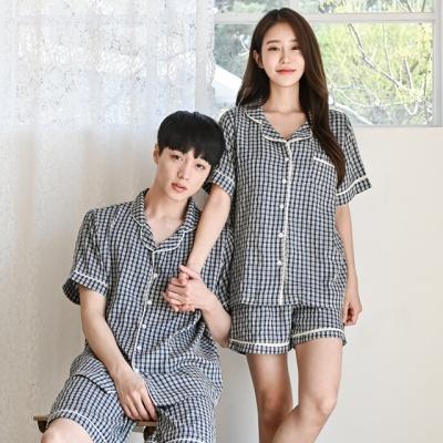 레이온 코지 여름 파자마 커플 잠옷